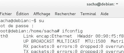 Adresse Mac Debian