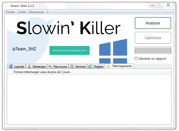 Slowin Killer Interface