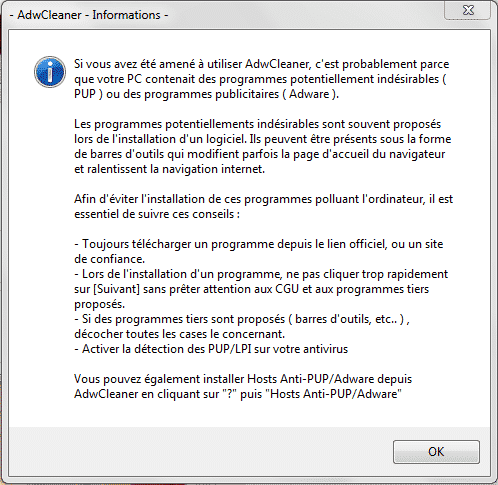 AdwCleaner informations
