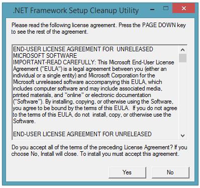 CGU Framework Setup Cleanup Utility