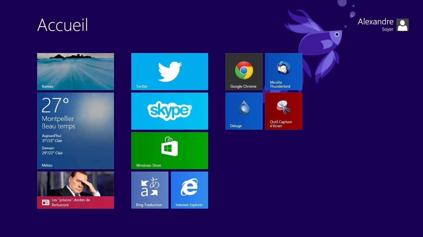 Accueil Windows 8.1