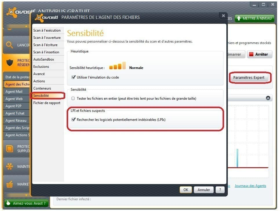Screenshot Avast! antivirus