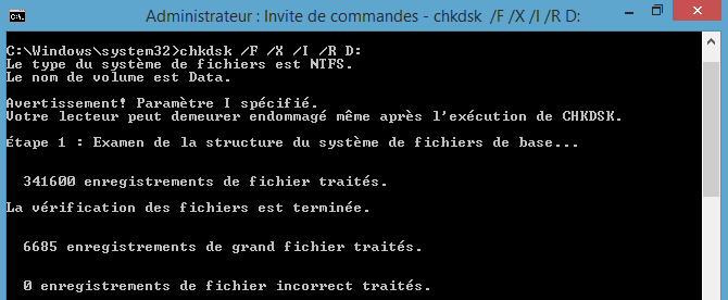 checkdisk cmd chkdsk