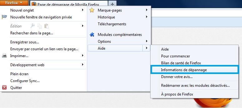 Méthode 2 Réinitialiser Firefox