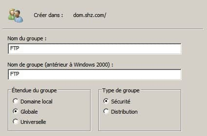 Groupe FTP Windows Serveur 2008