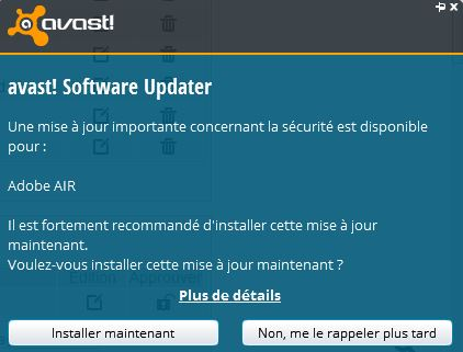 Notification Software Update