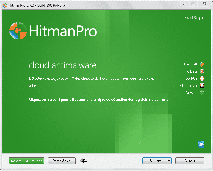 Hitman Pro scanneur cloud