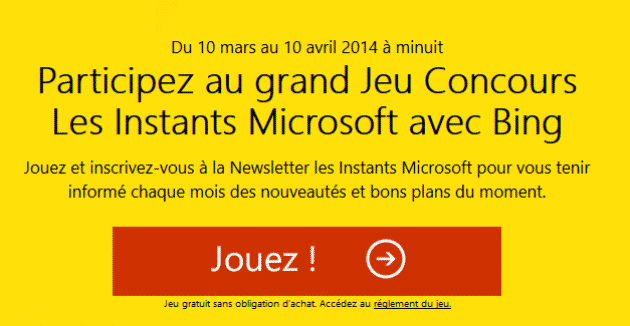 Concours Microsoft Bing