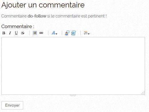 Commentaire en dofollow sur un blog