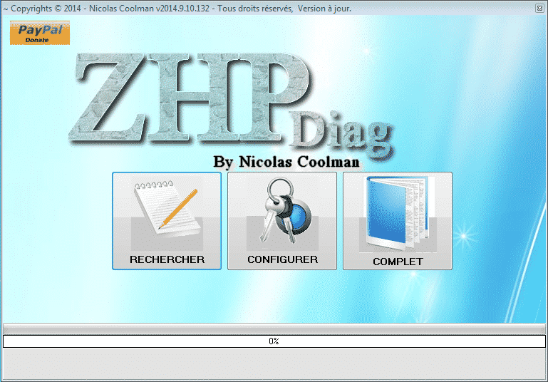 ZHPDiag interface