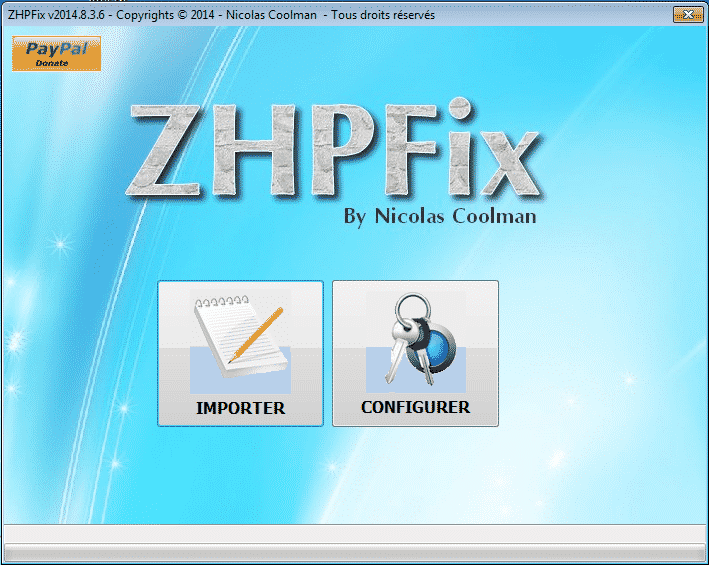 ZHPFix interface