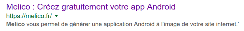Référencer son application web