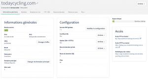 Interface de gestion hébergement web OVH