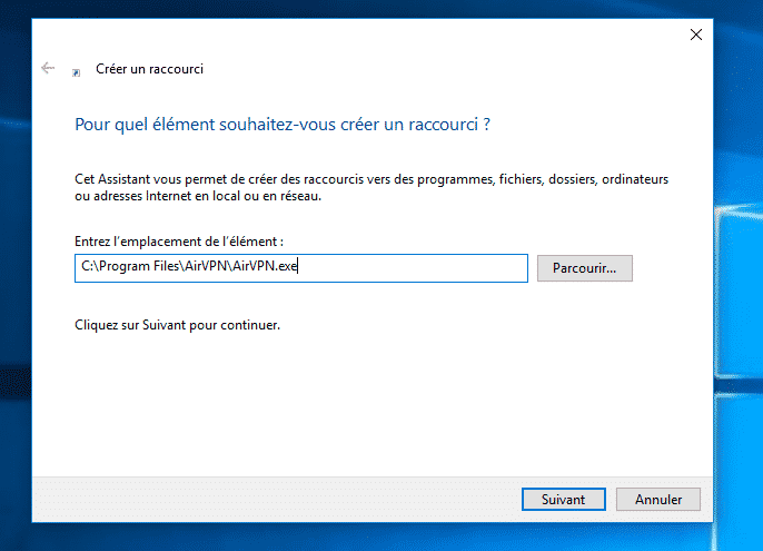 Installation du VPN AirVPN sous Windows